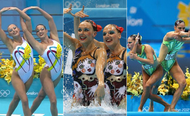 London 2012 Olympics Fashion Minute Synchronized Swimming Costumes