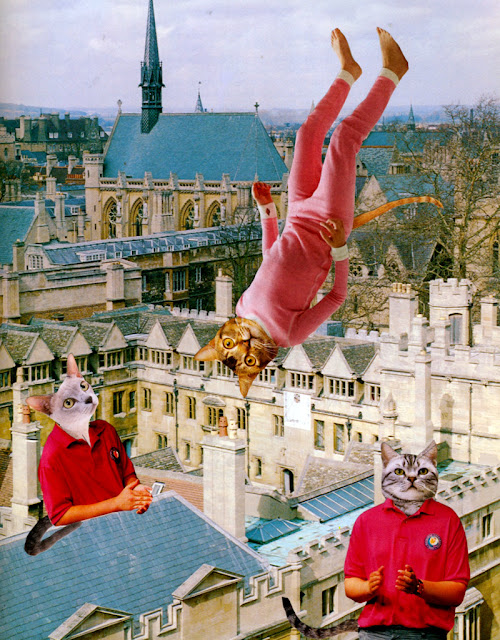 Cat people collages by C. Mazzie-Ballheim