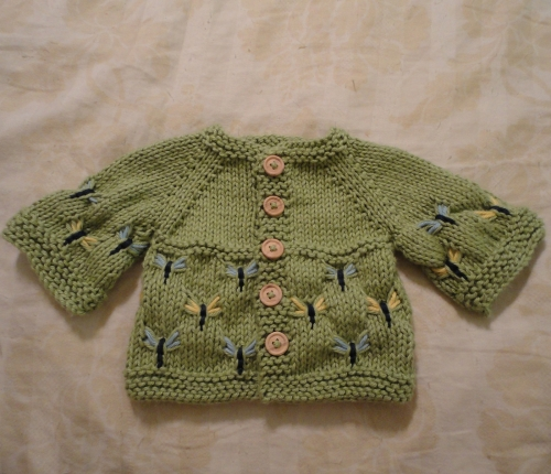 Dragonfly Baby Sweater - Free Pattern