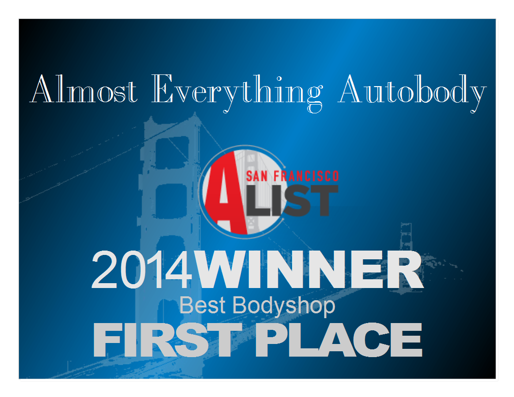 2014 San Francisco Bay Area A-List First Place Best Auto Body Shop
