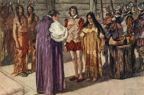 Us Timeline 1614 Pocahontas Marries John Rolfe