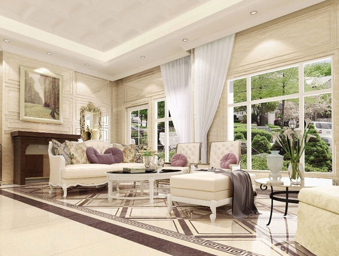Ruang Tamu Mewah Dengan Gaya Minimalis Modern