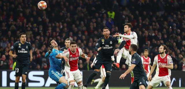 Live : Real-Madrid vs Ajax match en direct du mardi 05 mars 2019