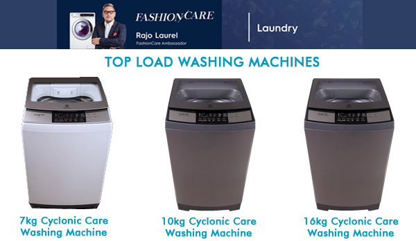Electrolux washing machines - Electrolux fashion care - top load washing machines