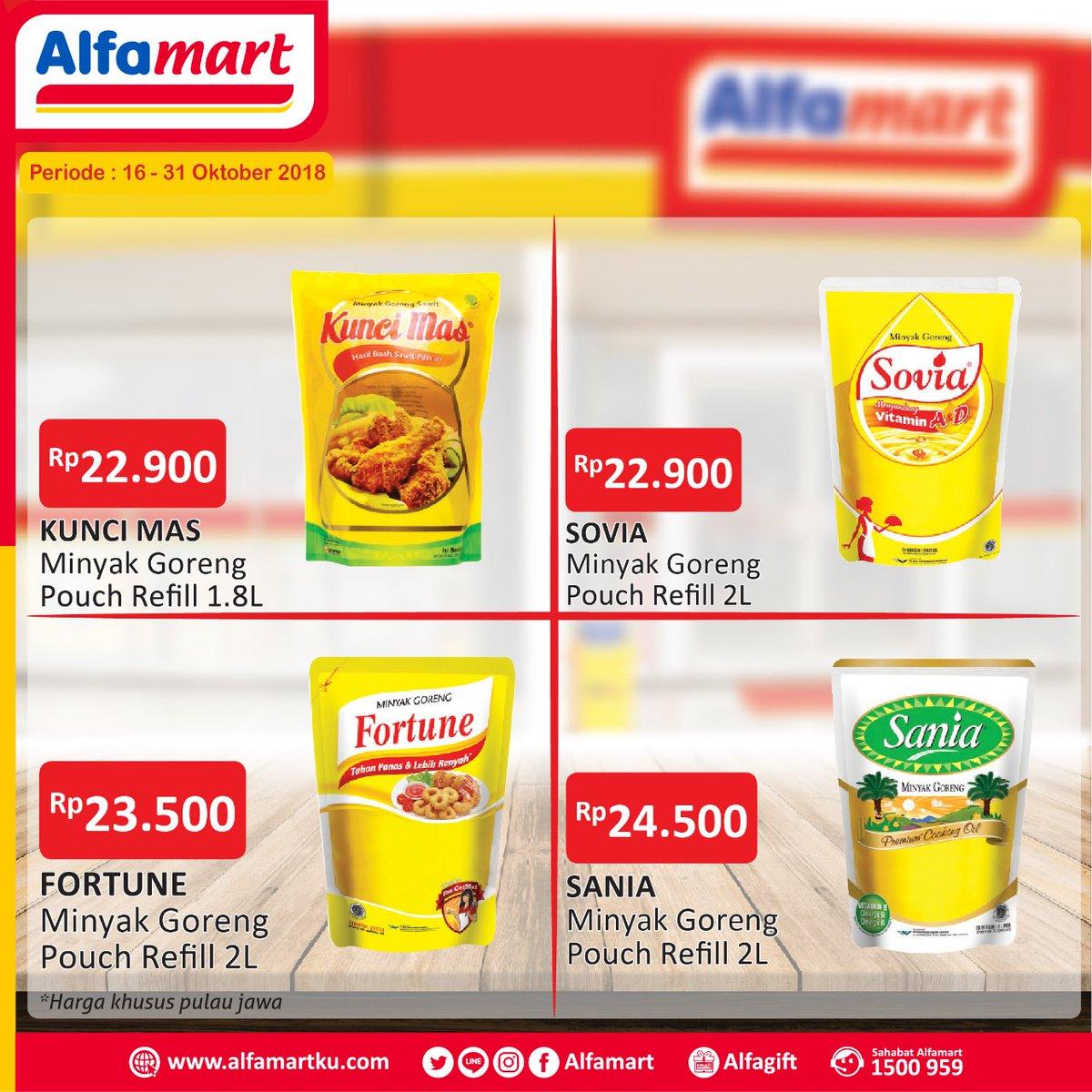 Alfamart - Promo Parade Minyak Goreng Murah (s.d 31 Okt 2018)