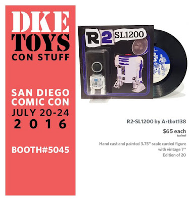 "San Diego Comic-Con 2016 Exclusive Star Wars ""R2-SL1200"" Resin Figure by Artbot138 x DKE Toys"