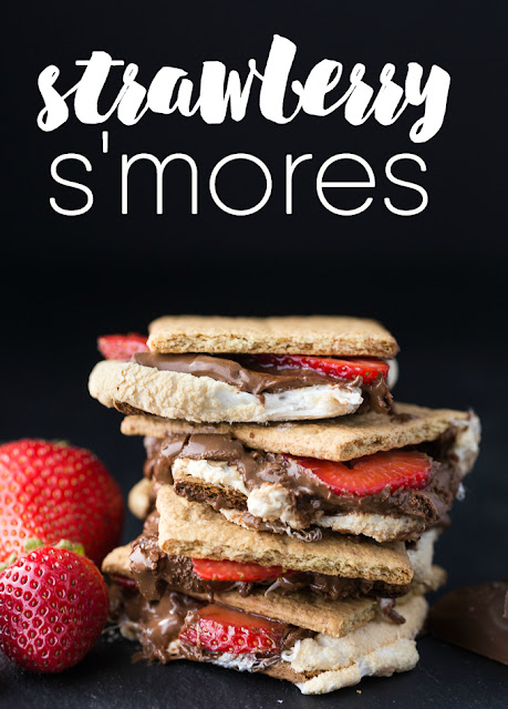 Strawberry,Chocolate, Marshmallow S'mores