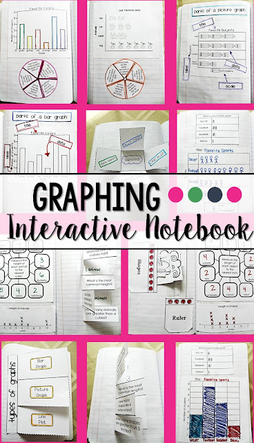 Graphing Interactive Notebook that is ideal for second grade.  Includes different interactive pages to make math and graphing more fun and hands on.