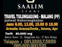 Jadwal Travel Tulungagung Malang - Saalim Trans