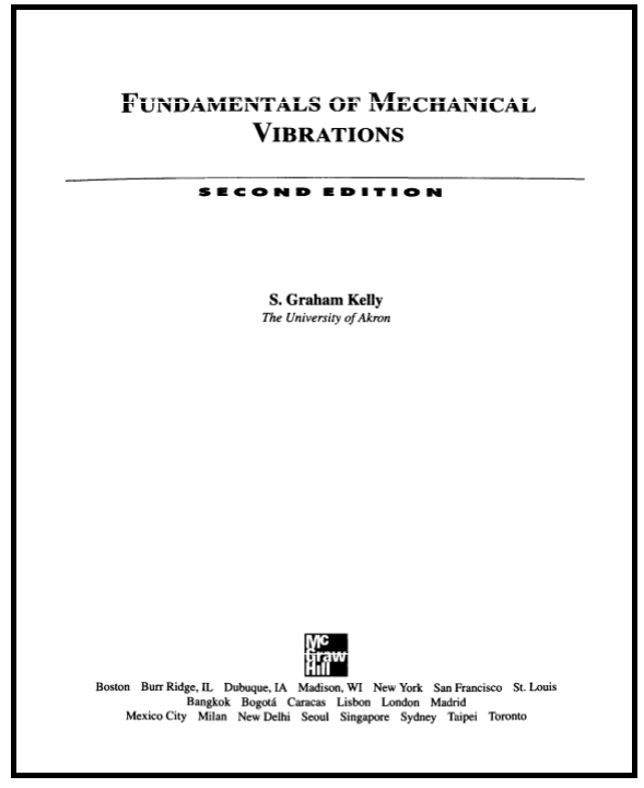 fundamentals of mechanical vibrations kelly pdf