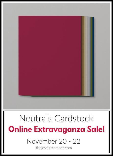 Neutrals cardstock - Online Extravaganza Sale
