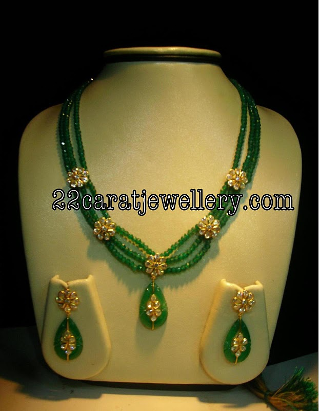 Ruby Emerald Beads Imitation Jewellery Jewellery Designs