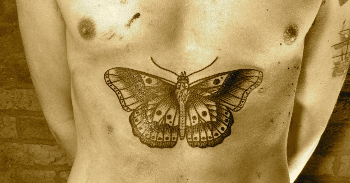 Solar plexus butterfly tattoo for Solar plexus tattoo