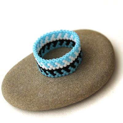 купить украшения из бисера этнические кольца на палец на лето цена фото