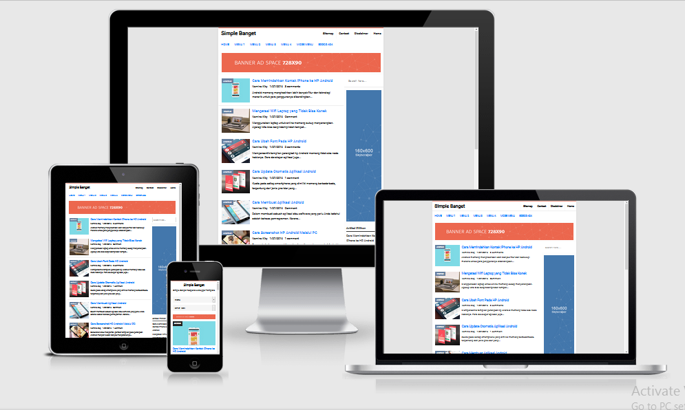 Simple banget high ctr responsive blogger template pronofoot35fo Images
