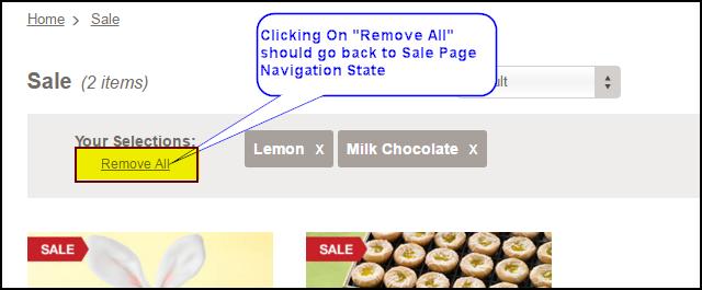 Breadcrumb removeAction Removeall URL