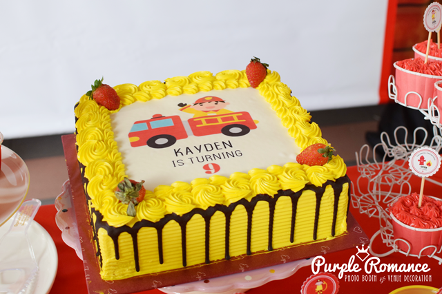fire station, fire fighting, backdrop, malaysia, kuala lumpur, kl, selangor, ttdi, mont kiara, welcome board, birthday cake, cupcakes, fire theme, party setup, planner, boy, girl, package