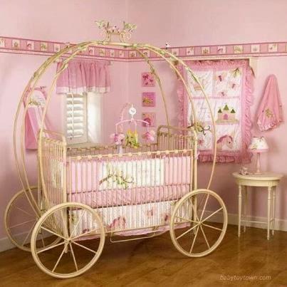 Habitaciones estilo princesa para beb s dormitorios for Pegatinas para habitacion de bebe