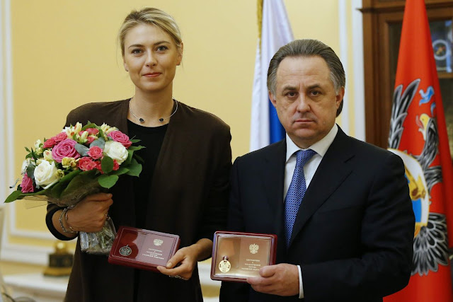 Tennis Player Maria Sharapova has received 2 State Awards of Honour in Russia