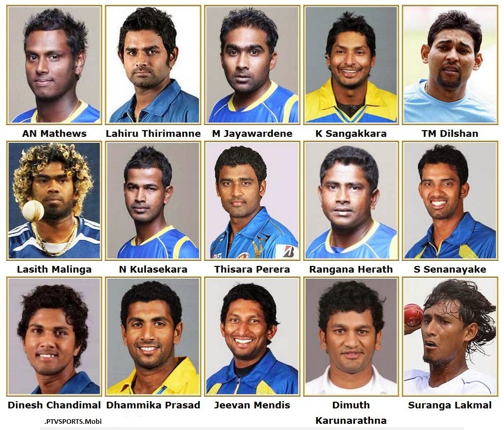 Motivational Quotes For Sports Teams: ICC Cricket World Cup 2015 : Sri Lanka Squad
