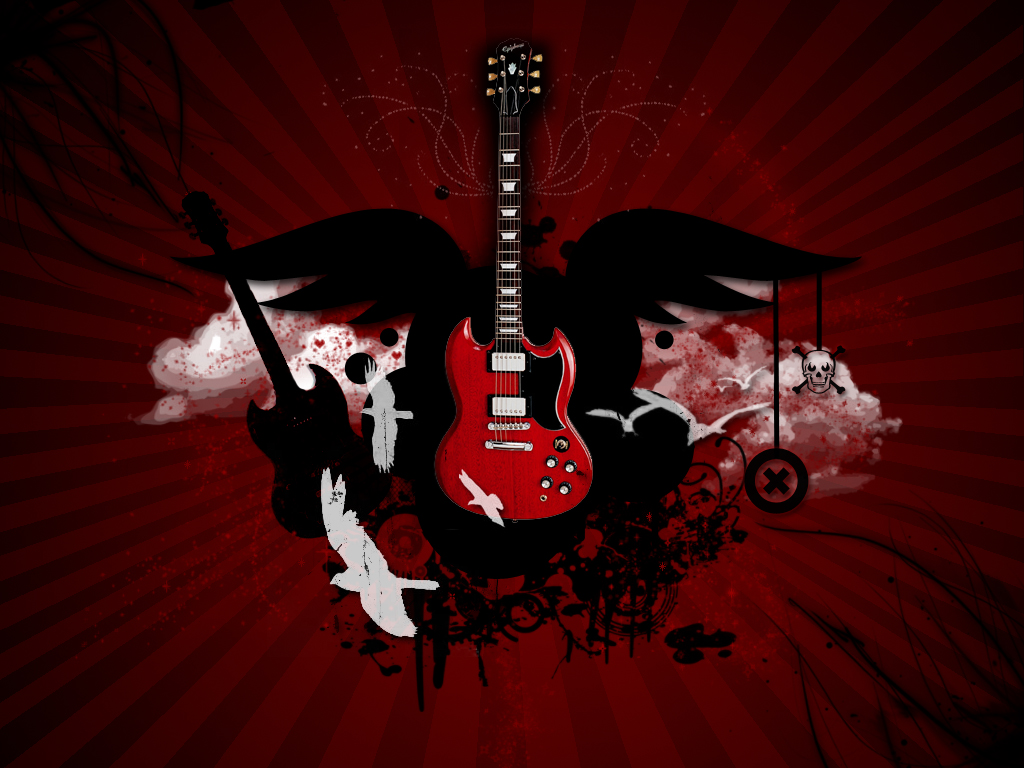Estudando A Net: Wallpapers De Guitarras Papel De Parede