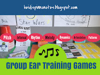 Group Ear Training Games Piano Teaching Pitch Interval Rhythm Melody Dynamics Articulation Patterns