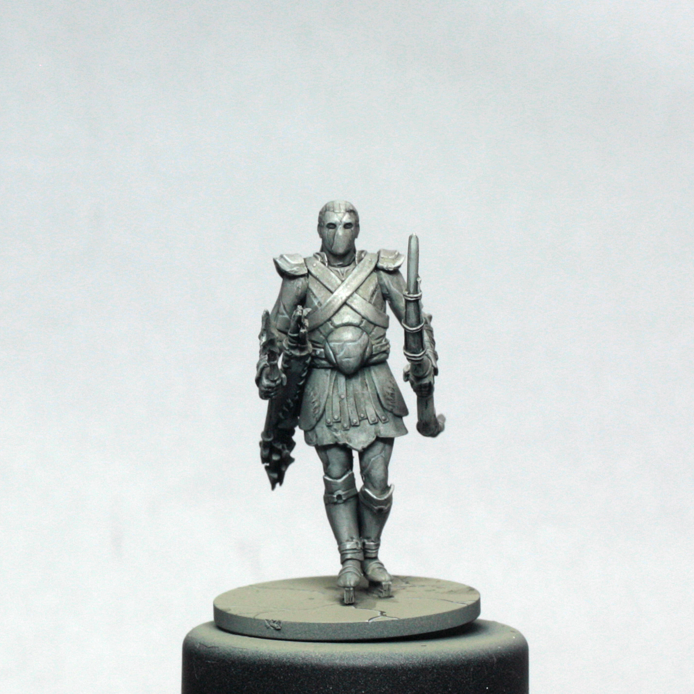 Painting miniatures color master primer - The Final Touch Is To Highlight The Bottom Edge Of The Cracks With A Near White Colour I Added White Paint To My Final Highlight Mix But Equally A Little
