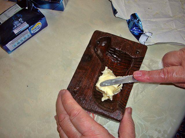baranek, foremka, drewno, masło