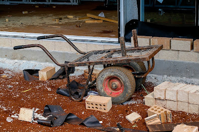 Cart used in building a house