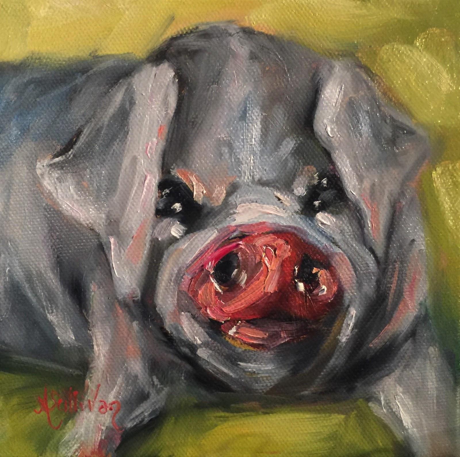 Through The Eyes Of An Artist A Little Bit Lazy Pig