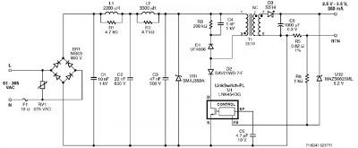 led driver using lnk454dg diagrams circuit. Black Bedroom Furniture Sets. Home Design Ideas