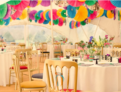 Source The Style : a Multicoloured Marquee Wedding