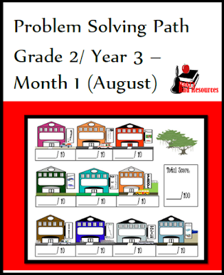 Free math problem solving journal for 2nd grade from Raki's Rad Resources.