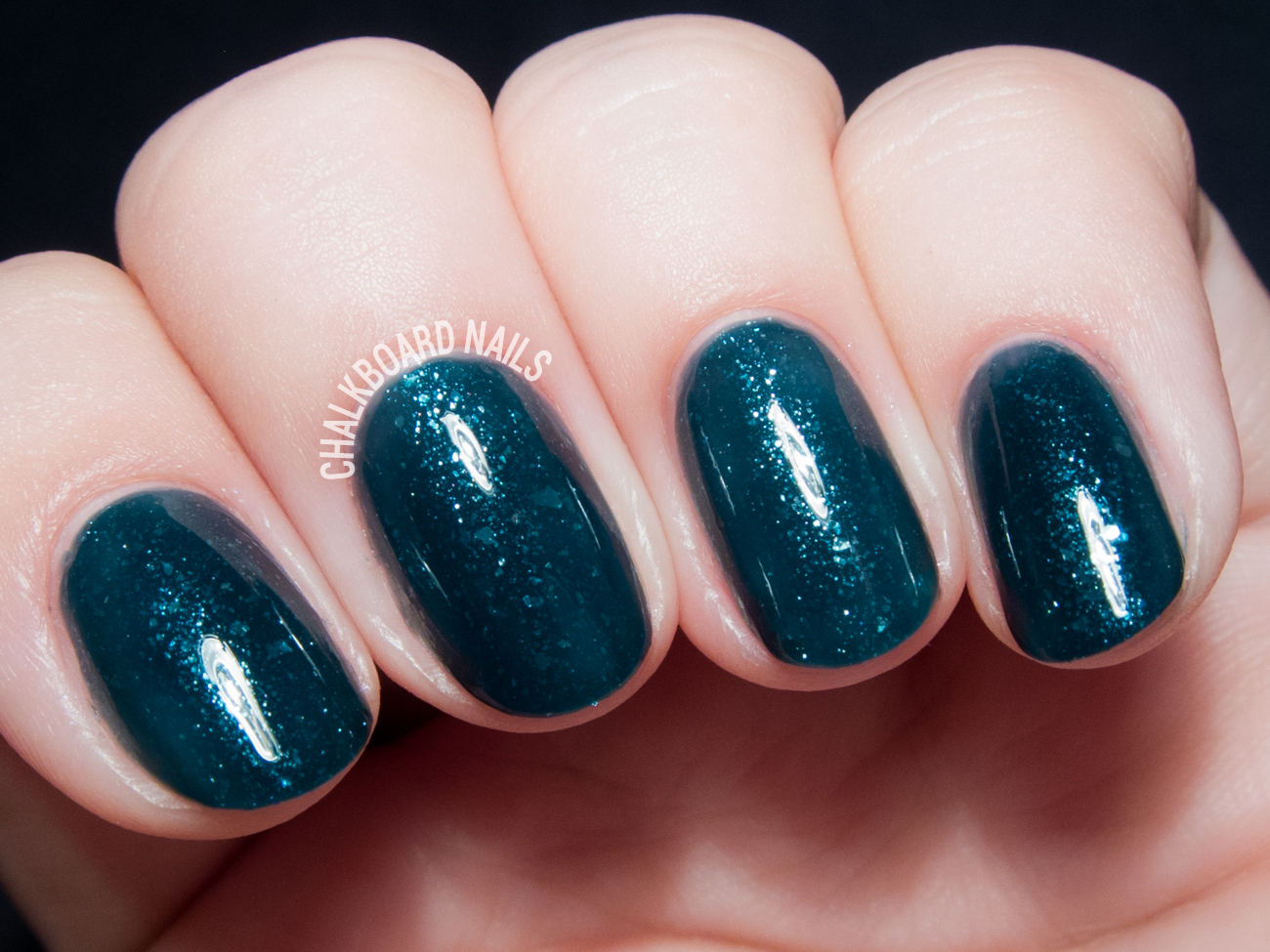 Contrary Polish Snowy Night via @chalkboardnails