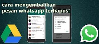 Bagaimana Mengembalikan Pesan Whatsapp yang Terhapus di iPhone