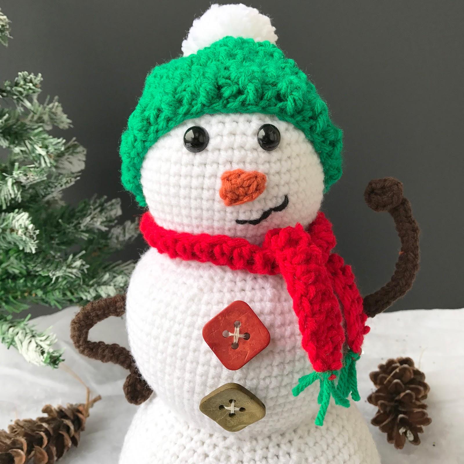 Snowman Amigurumi Crochet Pattern Part 3 Marias Blue Crayon