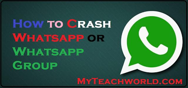 whatsapp hang trick,  whatsapp crash,  whatsapp hang message 2018,  whatsapp crash message