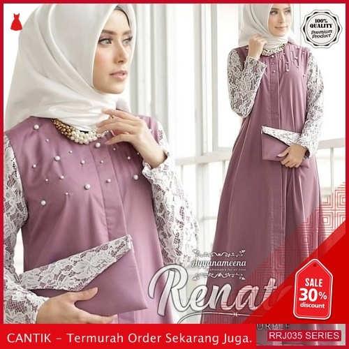 Jual RRJ035D190 Dress Brukat Mutiara Wanita Renata Sk Terbaru BMGShop