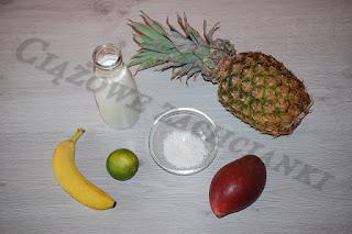 składniki na koktajl owocowy