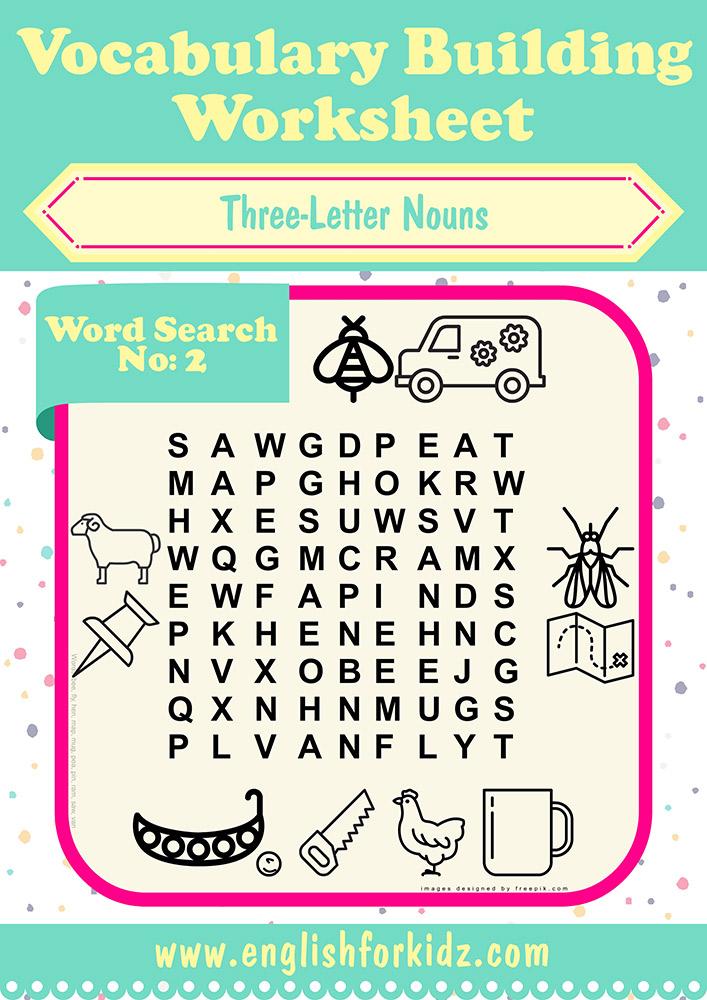 Vocabulary building worksheets three letter word search puzzles free esl word search puzzles ibookread ePUb