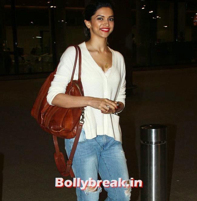 Deepika Padukone, Elli, Deepika, Kangana Arrive Back From IIFA