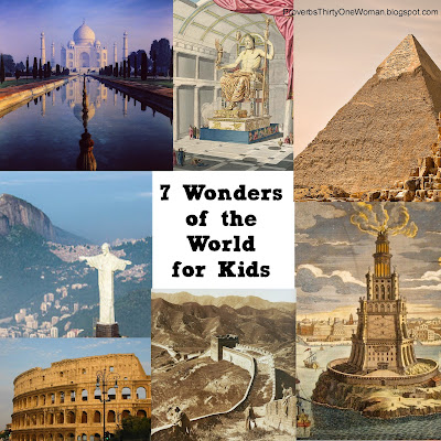 Seven Wonders of the World a Homeschool or School Break Project