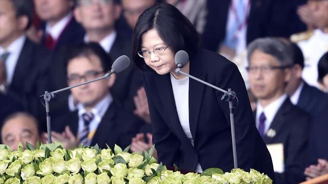 Presidenta de Taiwán viajará a EEUU en plena tensión con China