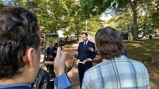 Cliff Hyra Libertarian candidate Virginia governor press conference civility