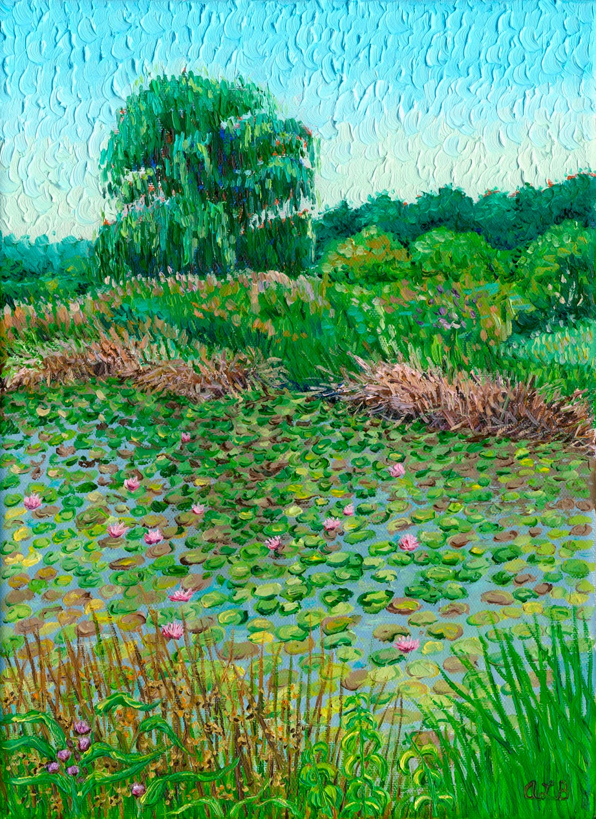 Audras oil paintings lily pons located outside frederick maryland is a magical place with dozens of varieties of water lilies and lotus flowers for sale izmirmasajfo