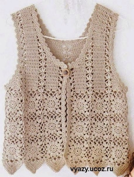 crochet square motif diagram pattern simple electronics projects for students with circuit hobby lavori femminili - ricamo uncinetto maglia: gilet