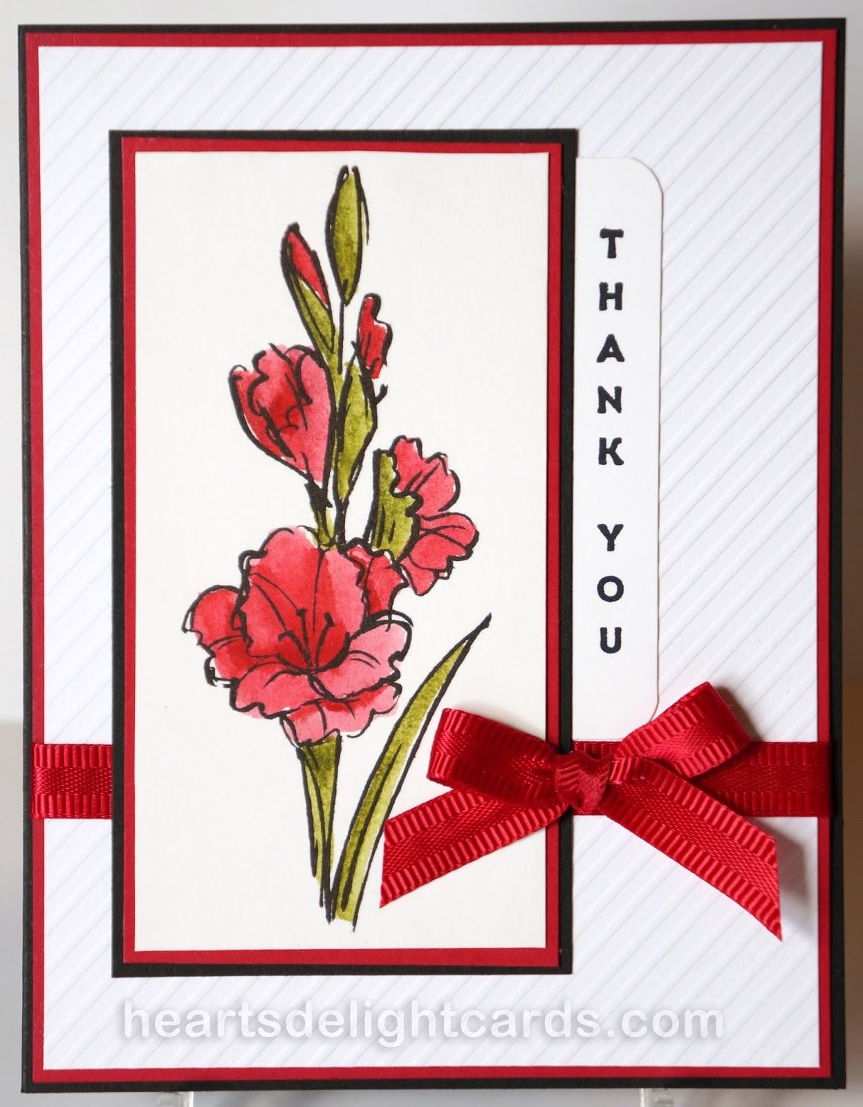 Heart\'s Delight Cards: Thank You in Red