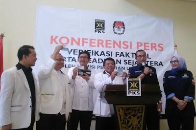 PKS Dinyatakan Lolos Verifikasi Faktual Tingkat DPP