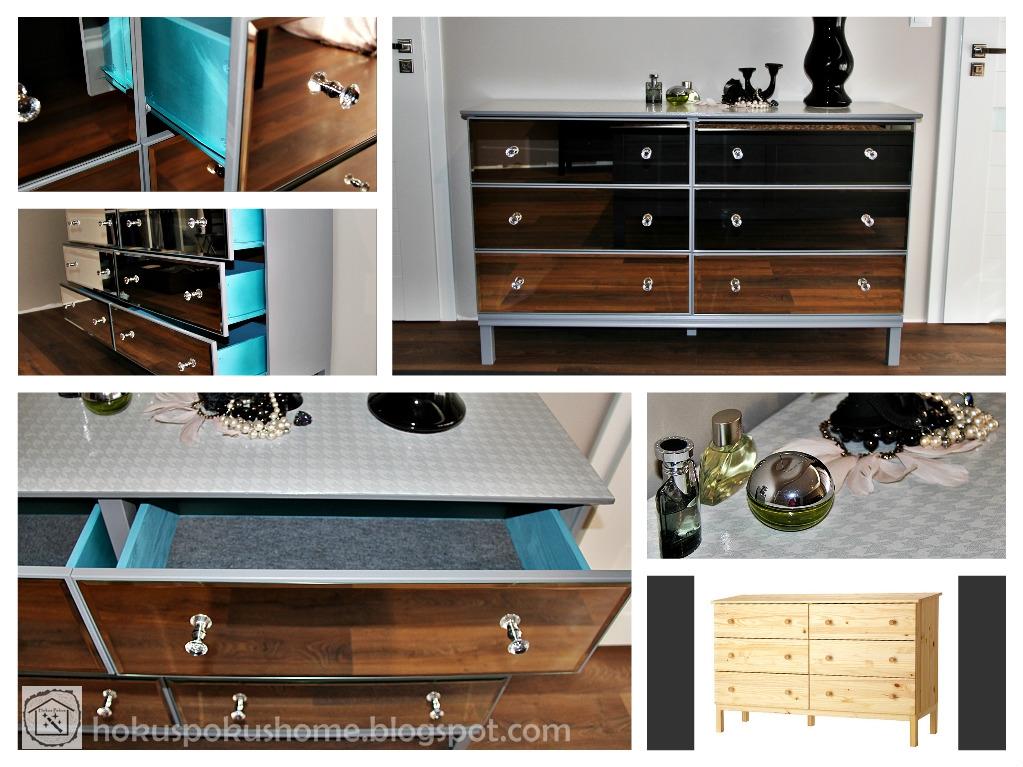 Ikea Tarva hack - mirrored dresser
