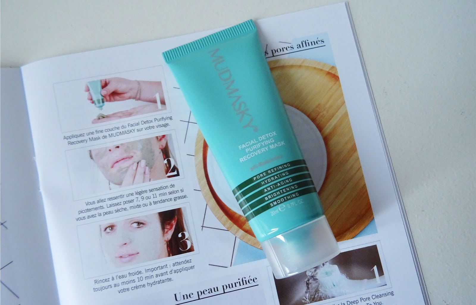 Glossybox simply beautiful Mudmasky, Facial Detox Purifying Recovery Mask